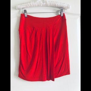 Bebe wrap front mini skirt XS